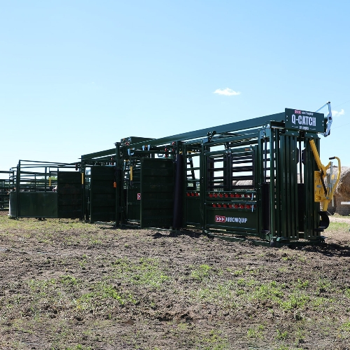 Q-Catch 87 Series Cattle Chute, 18' Alley and Tub
