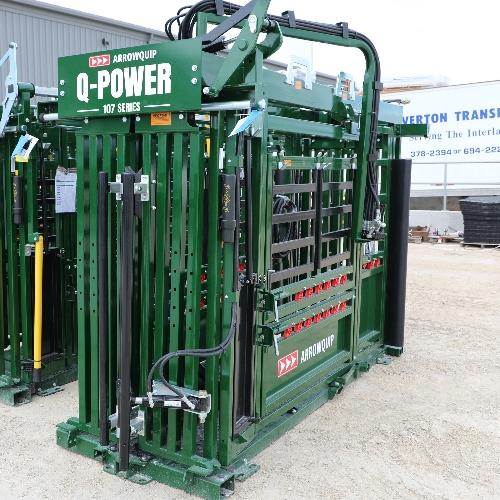 Head Sweep on Q-Power 107 Series hydraulic cattle chute