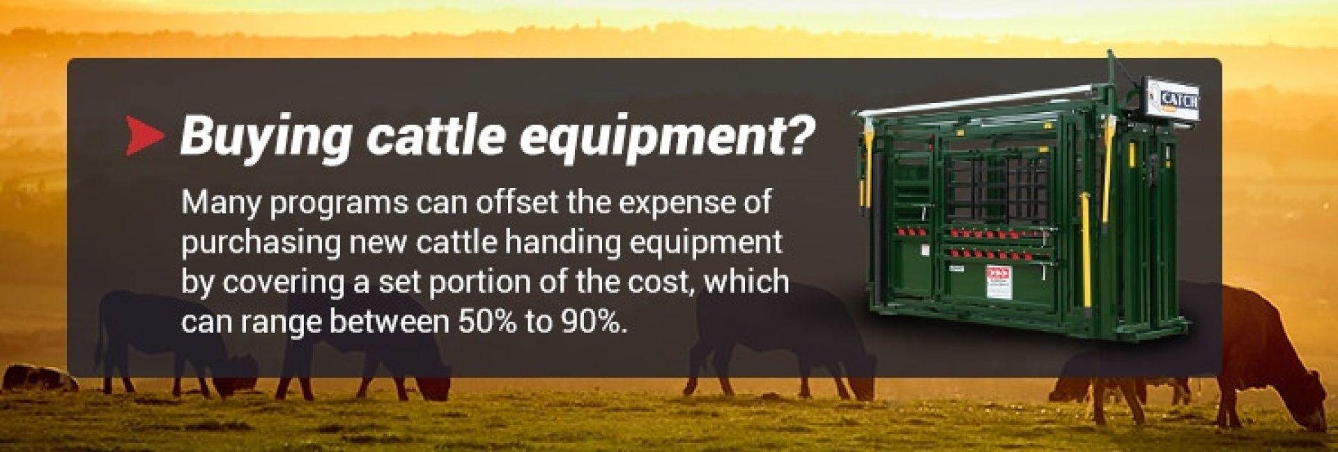 Cattle Equipment Reimbursement