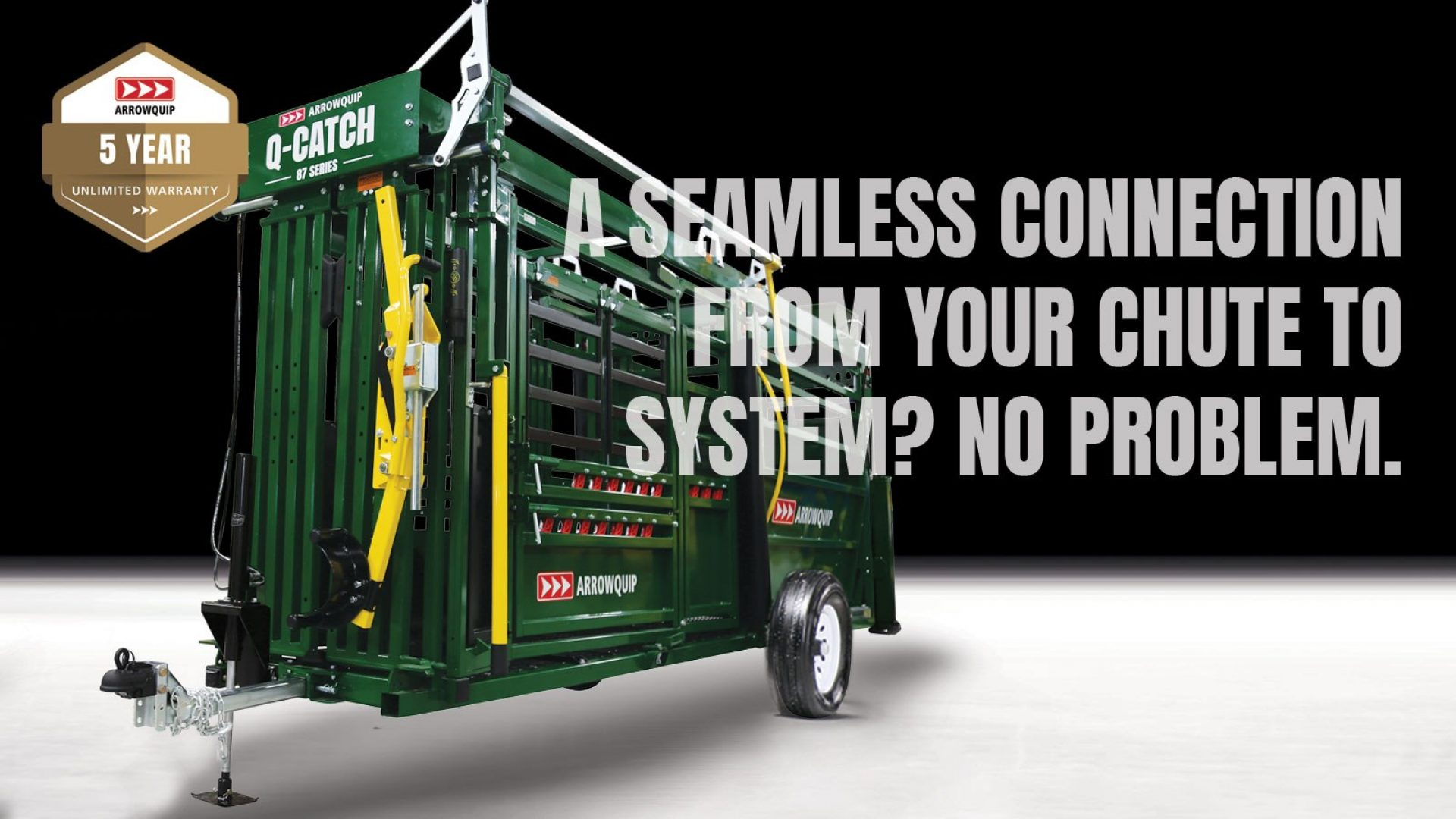 Q-Catch 87 Series portable cattle chute and alley