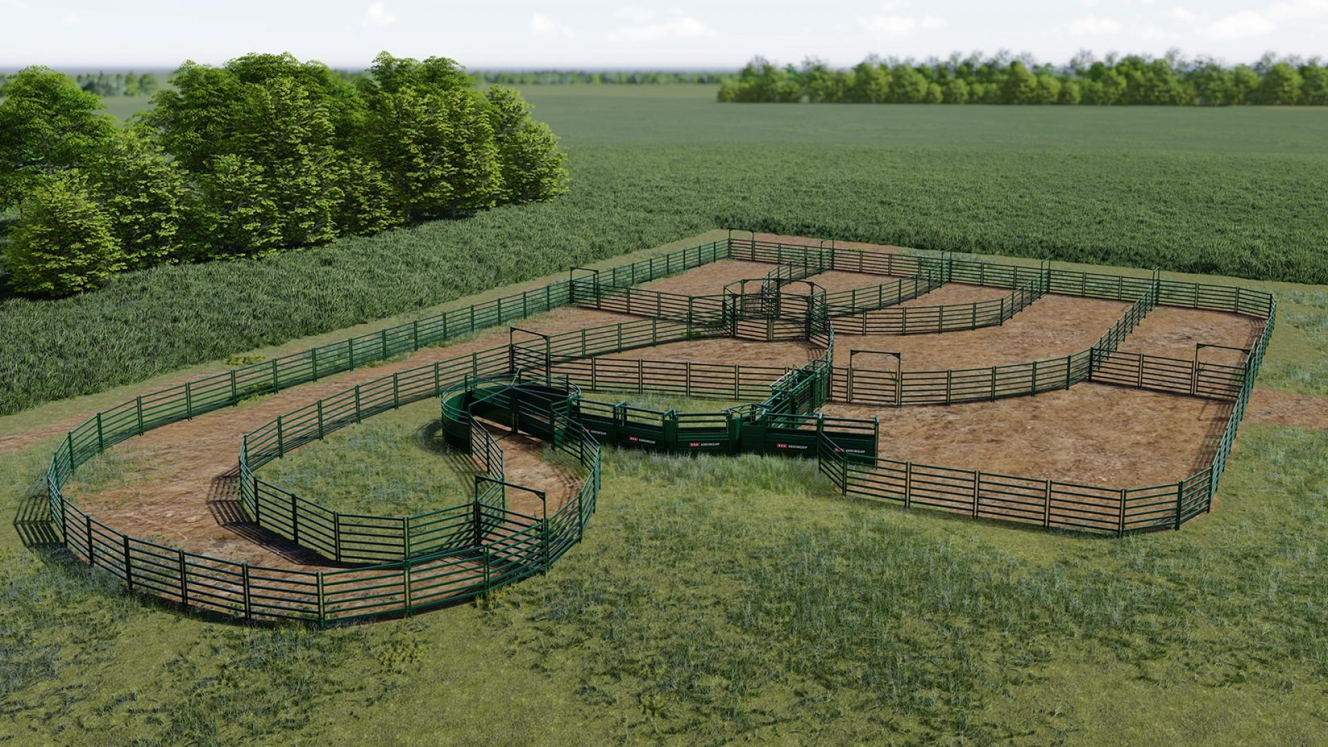 Custom cattle handling system design with cattle drafting pound and squeeze chute