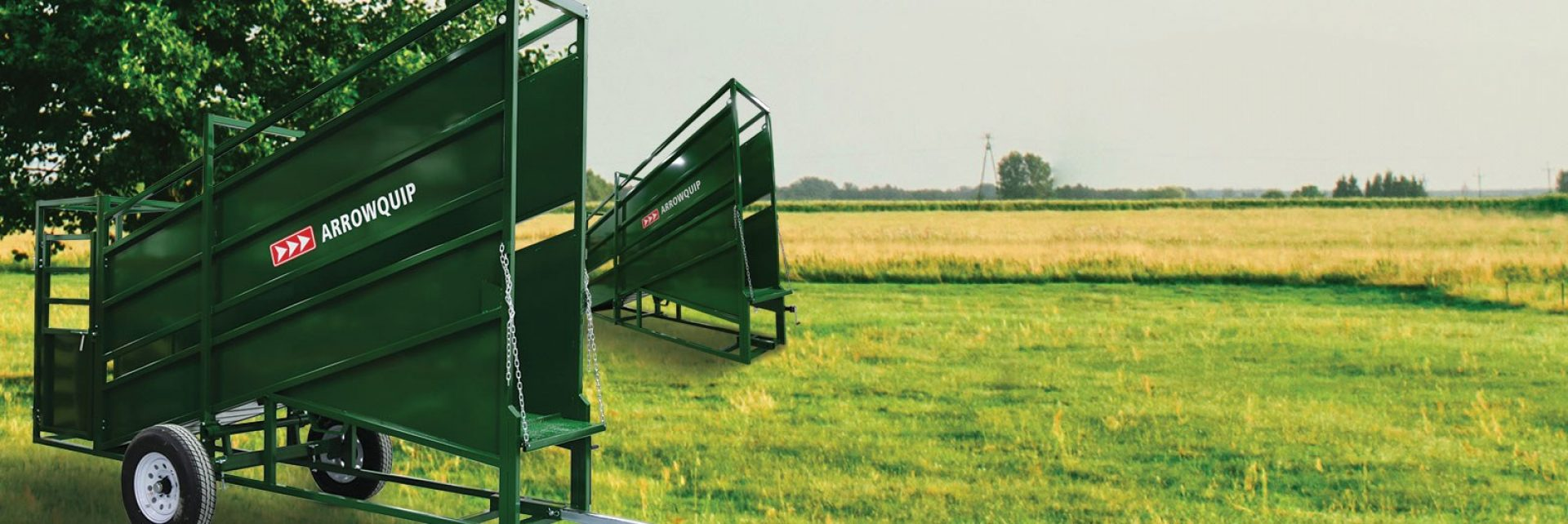 Cattle Loading Chutes in field | Arrowquip Cattle Equipment