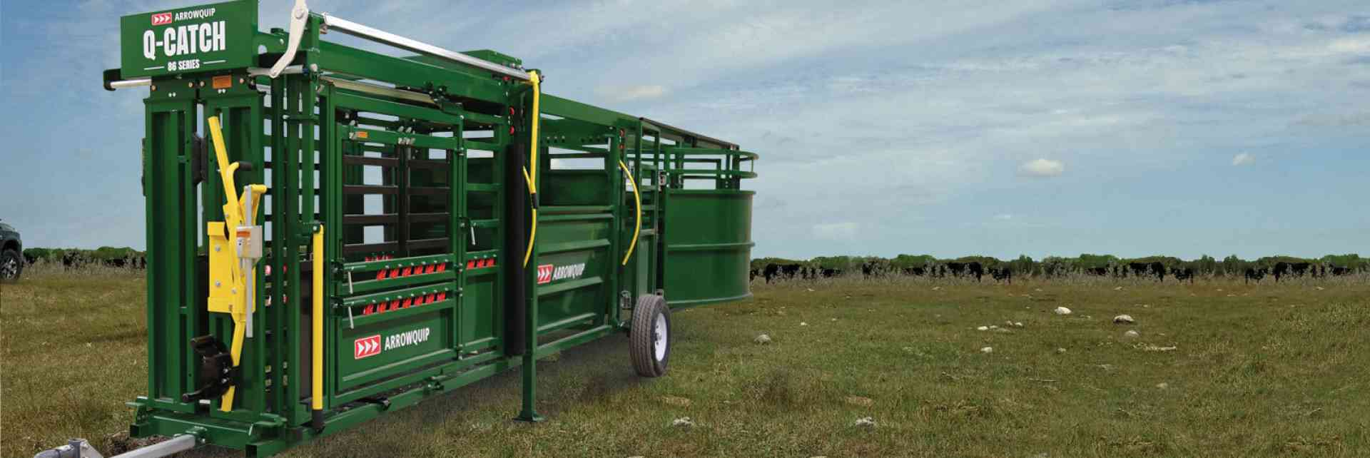 Portable Q-Catch 86 Series Cattle Chute, Cattle Alley & Cattle Tub | Arrowquip Cattle Equipment