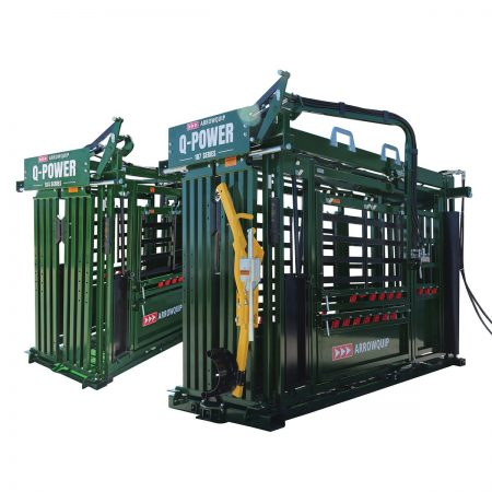 Q-Power 107 and 104 Series hydraulic cattle chutes