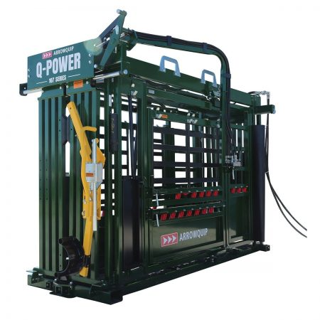Q-Power 107 Series hydraulic cattle crush from the side