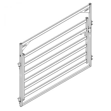 CAD Drawing of 10 ft Cattle Gate