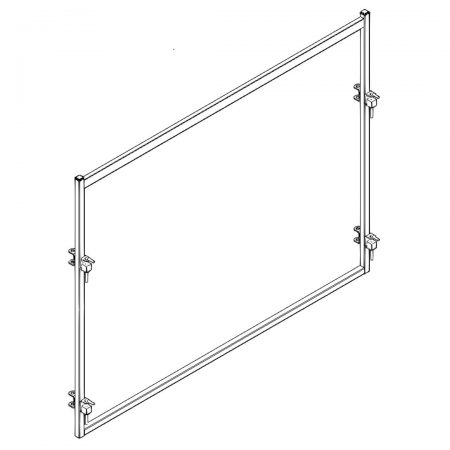 CAD Drawing of 10 ft Open Bow Cattle Panel