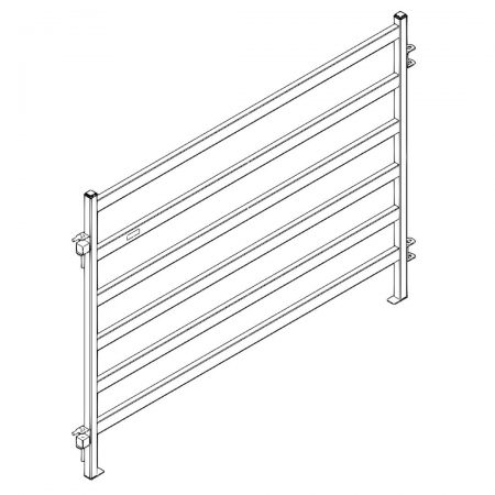 CAD Drawing of 10 ft Heavy Duty Cattle Panel