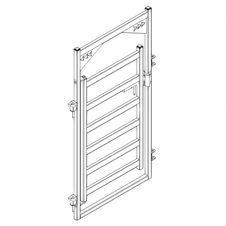 CAD Drawing of 4 ft Cattle Gate