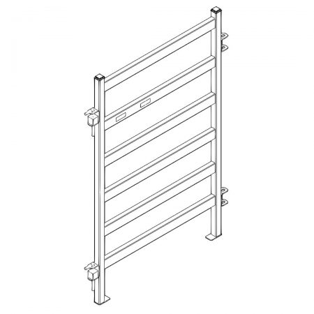 CAD Drawing of 4 ft Heavy Duty Cattle Panel
