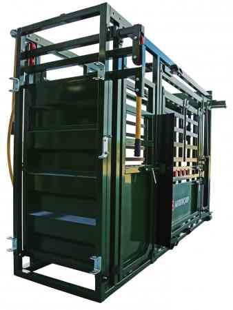 Q-Catch 74 Series Squeeze Chute image from the rear