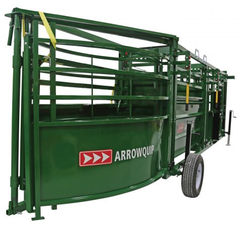 image of the cattle tub folded together on a portable cattle handling system