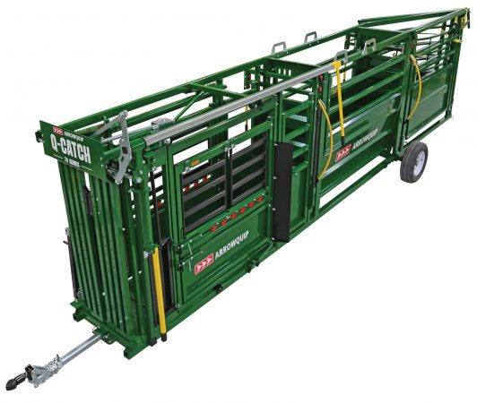 portable cattle handling system from above