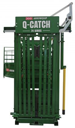 portable cattle handling system set up from the the front