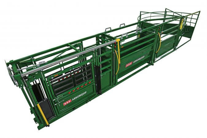 above view of the portable cattle handling system