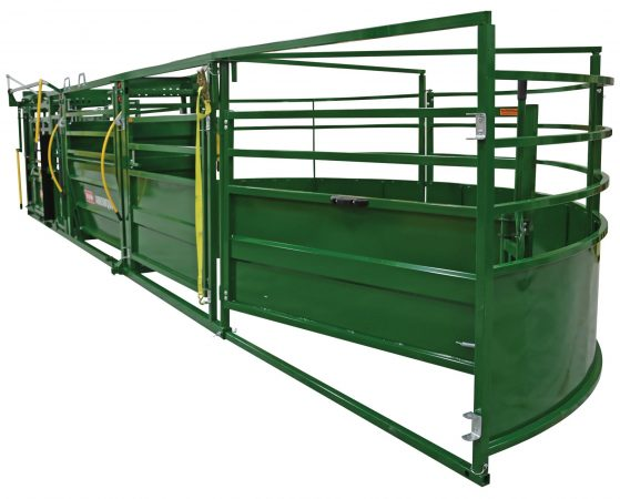 image from the rear of the portable handling system