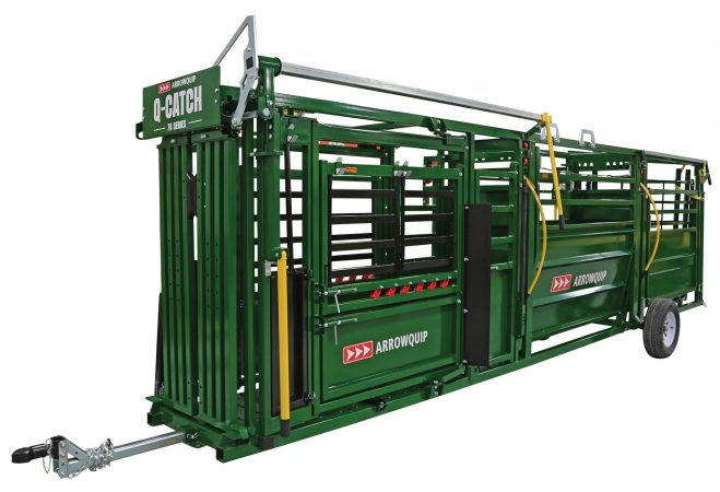 portable cattle handling system front side view