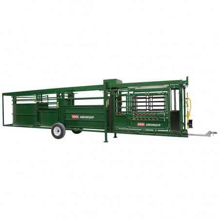 Portable Cattle Chute, Alley & Tub Opposite Side View | Arrowquip Cattle Equipment