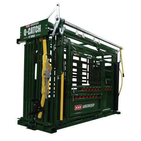 Side profile of Q-Catch 87 Series cattle chute with palpation cage