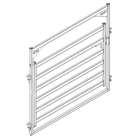 CAD Drawing of 8 ft Cattle Gate