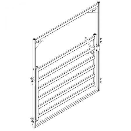 CAD Drawing of 8 ft High Bow Cattle Gate