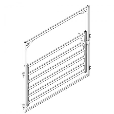 CAD Drawing of 10 ft High Bow Gate