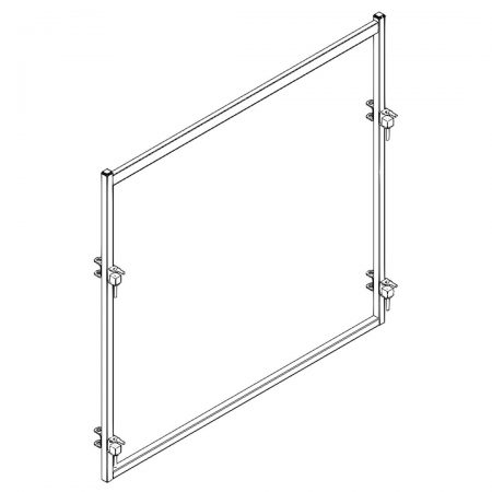 CAD Drawing of 8 ft Open Bow Cattle Panel