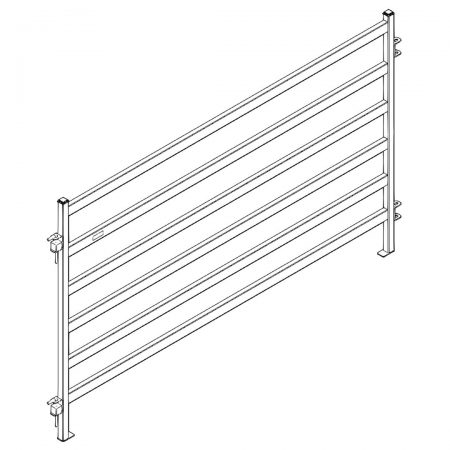CAD Drawing of 8 ft Heavy Duty Cattle Panel