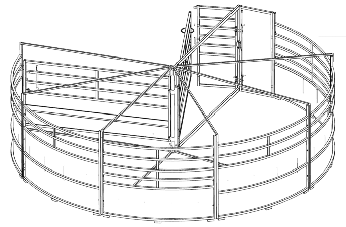 BudFlow cattle tub CAD drawing