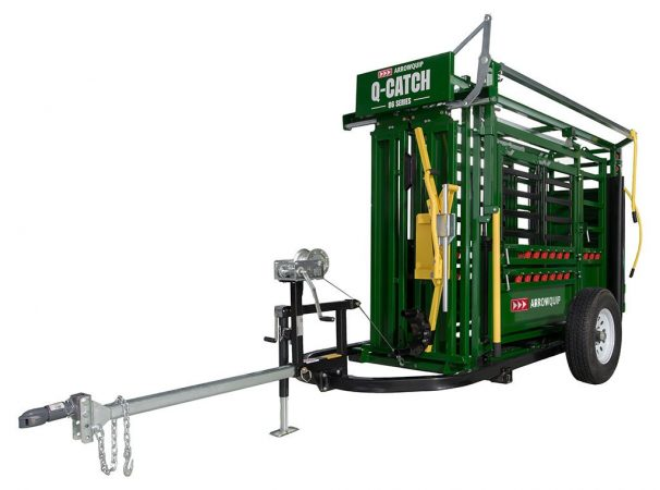 Cattle Chute Trailer With Cattle Squeeze Chute | Arrowquip Cattle Equipment