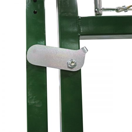 Easy Flow adjustable cattle race safety latch