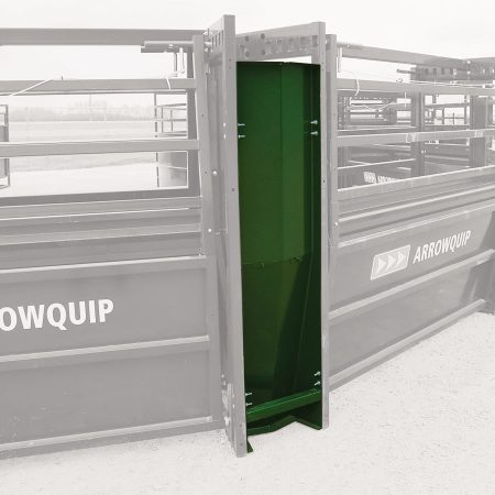 Easy Flow adjustable cattle alley kicker panel