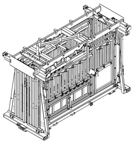 CAD Drawing of The General hydraulic chute