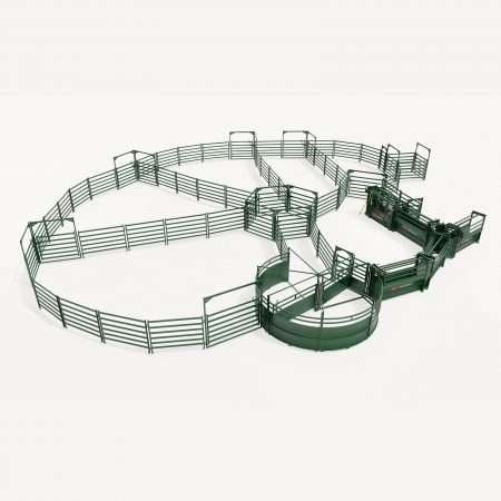 3D Drawing of custom cattle handling system by Arrowquip