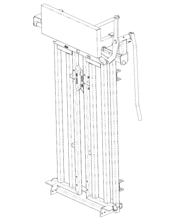 CAD drawing of Arrowquip's cattle yoke gate