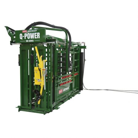 hydraulic squeeze chute for cattle