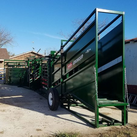 Loading Chute in Yard