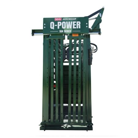 Q-Power 104 Series Hydraulic squeeze chute 3E head gate