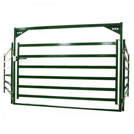 Arrow Cattle Gate with cattle panels on either side