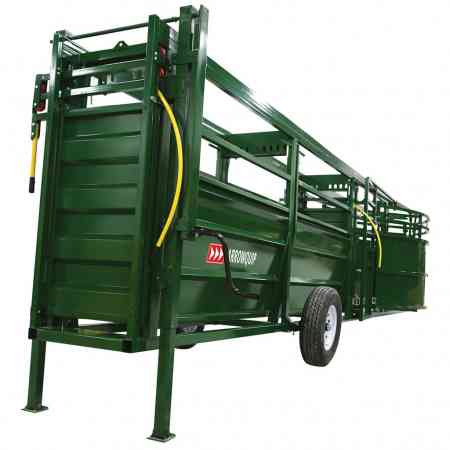 Portable Cattle Tub and Alley up on Jacks | Arrowquip Cattle Equipment