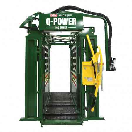 Front view of Q Power 106 series with open squeeze and yoke gate by Arrowquip
