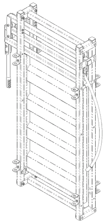 Rolling Cattle Alley Gate CAD Drawing