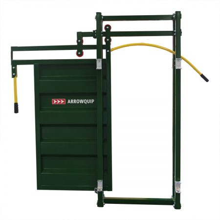 Front view of Cattle Race Gate open by Arrowquip