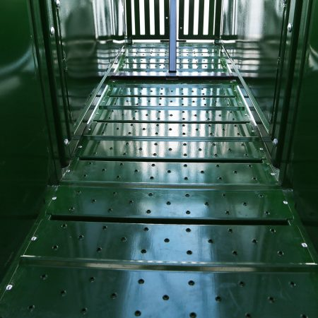Ribbed metal floor