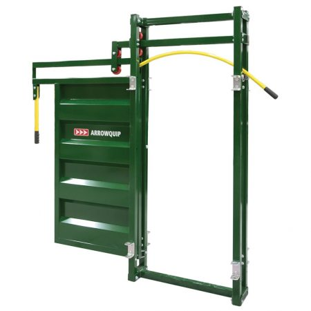 Rolling Cattle Alley Gate Open | Cattle Equipment