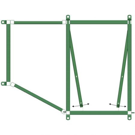 Cattle Sorting Alley Two Way 90/0 Diagram | Cattle Equipment