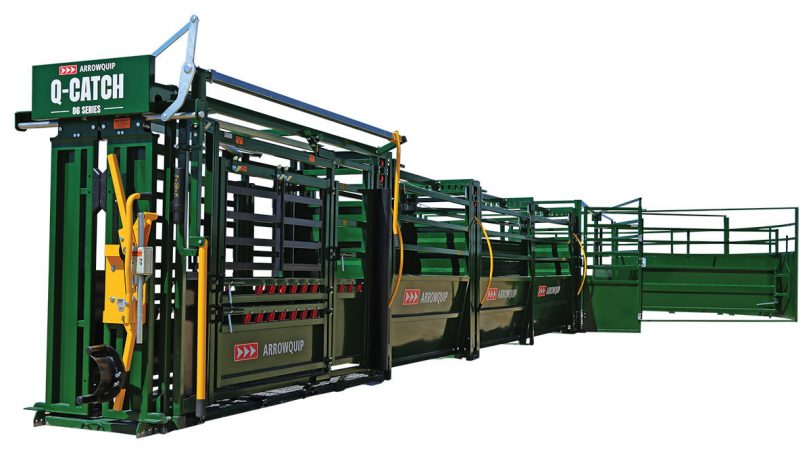 Small cattle working system design with 30' adjustable cattle alley