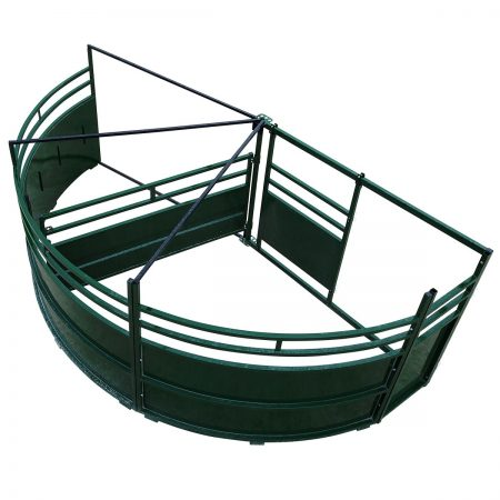 Double Alley Cattle Tub with 180 degree exit overhead image