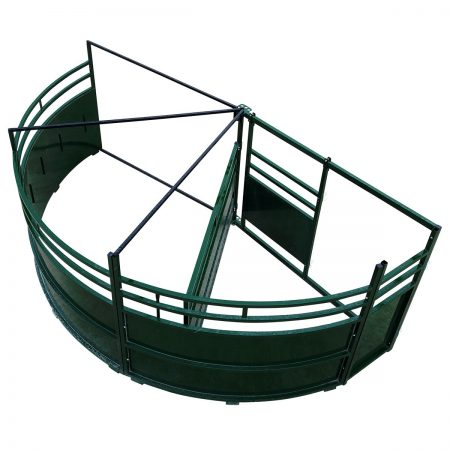Double Alley Cattle Tub with 180 degree exit full sweep image