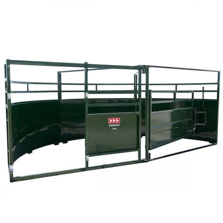Double Alley Cattle Tub with 180 degree exit